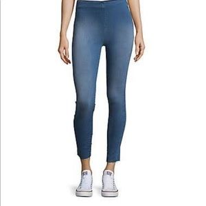 Free People Hi-Waist Raw Hem Skinny Jeans